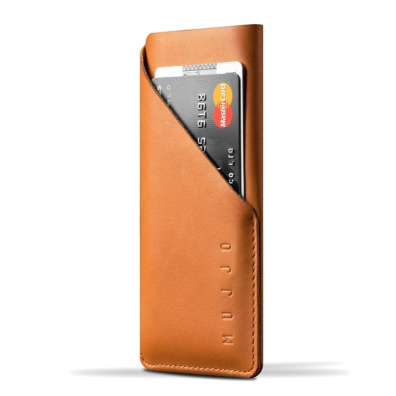 Mujjo - Leather wallet Sleeve iPhone X/Xs Tan 0