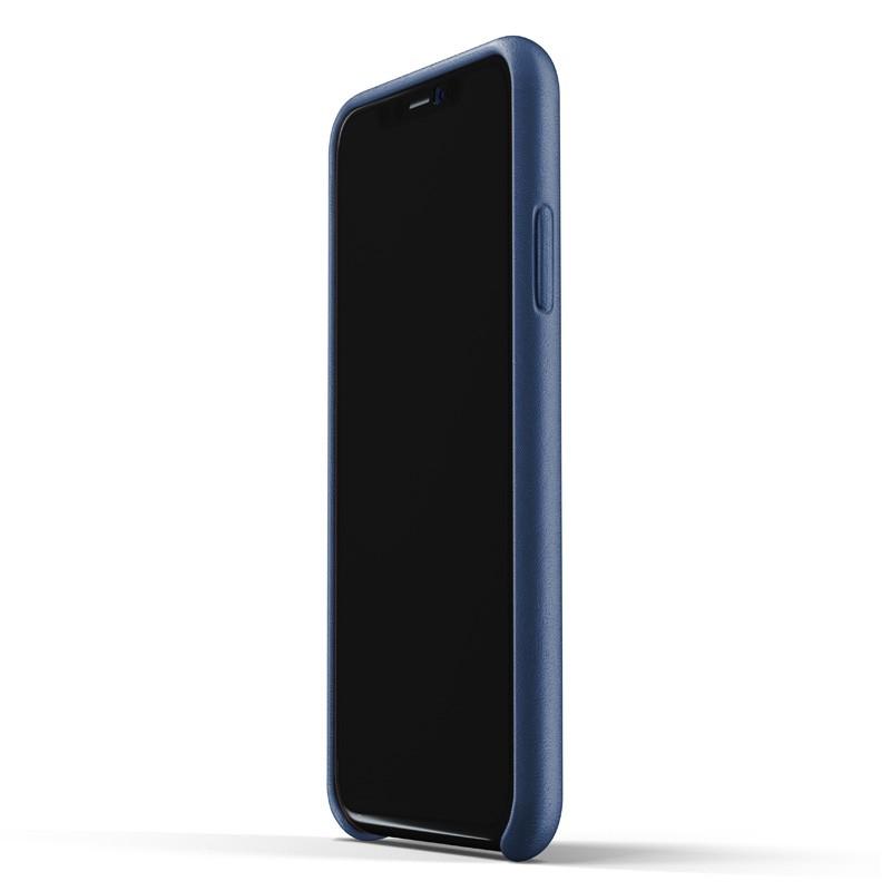 Mujjo Full Leather Wallet Case iPhone XR Case Blauw 02