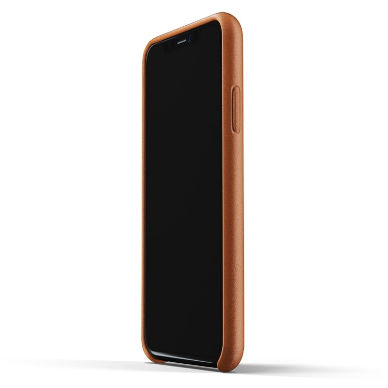 Mujjo Lederen iPhone XR Wallet Case Tan Bruin 02