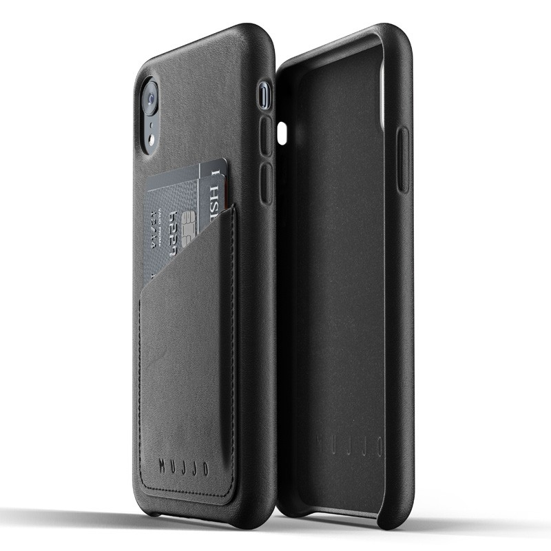 Mujjo Full Leather iPhone XR Case Zwart 04