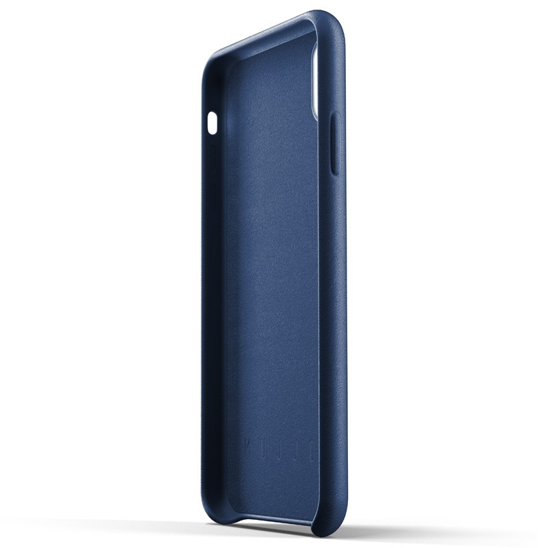 Mujjo Full Leather Wallet Case iPhone XS Max blauw 05