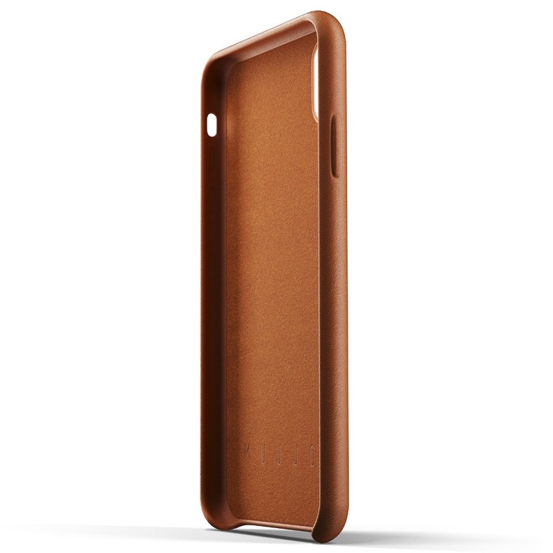 Mujjo Full Leather Wallet Case iPhone XS Max Tan bruin 05