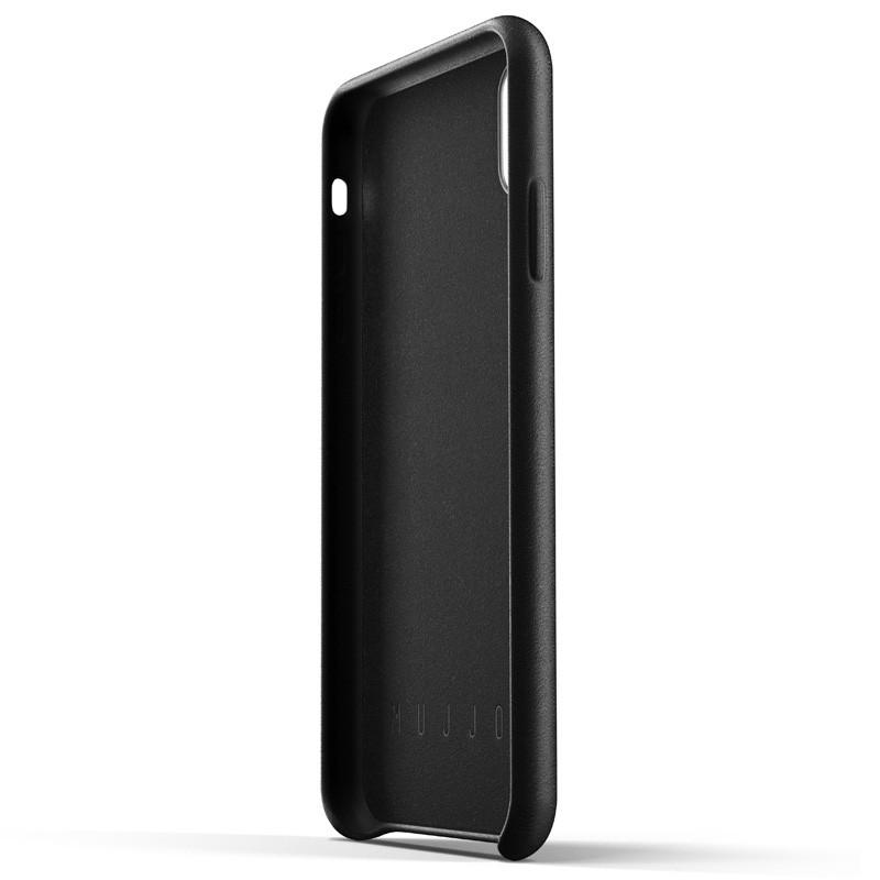 Mujjo Full Leather Wallet Case iPhone XS Max zwart 04
