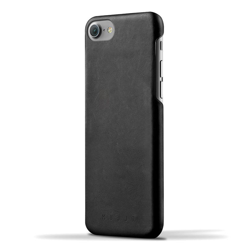 Mujjo Leather Case iPhone 7 Black 01
