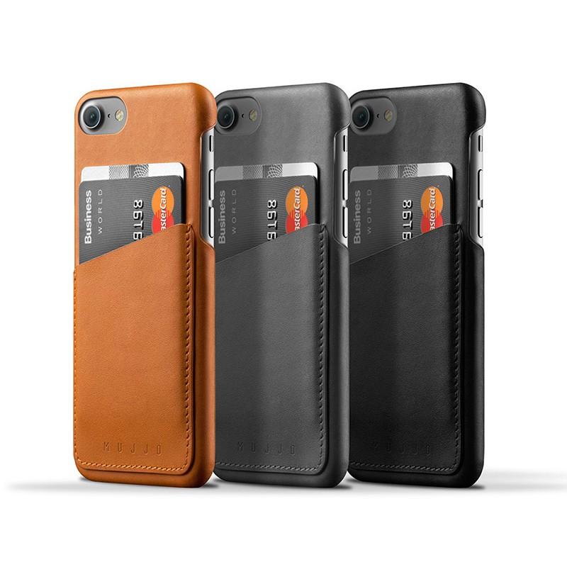 Mujjo Leather Wallet Case iPhone 7 Black 03