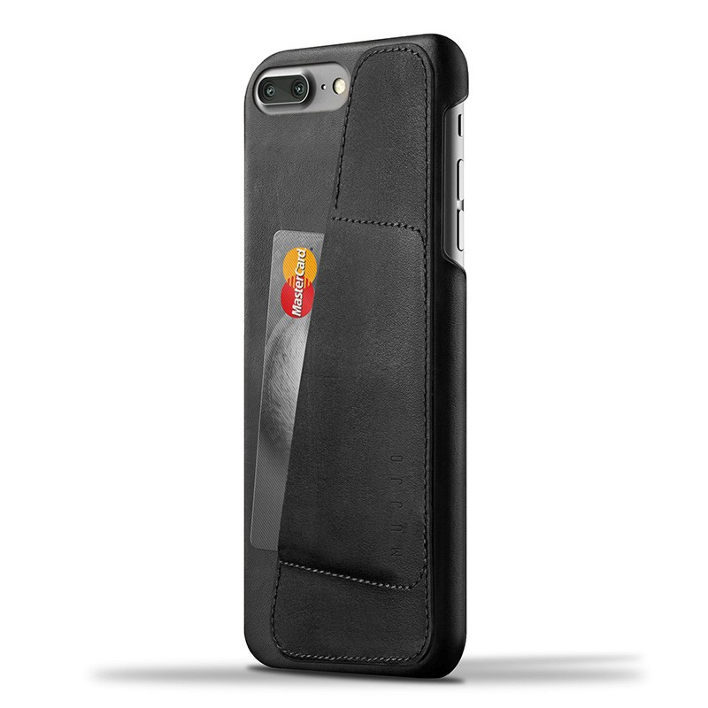Mujjo Leather Wallet Case iPhone 7 Plus Black 01