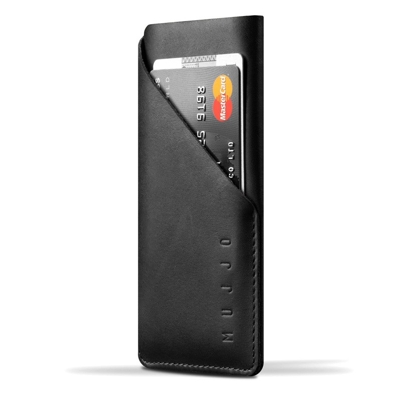 Mujjo Leather Wallet Sleeve iPhone 6 Black - 1