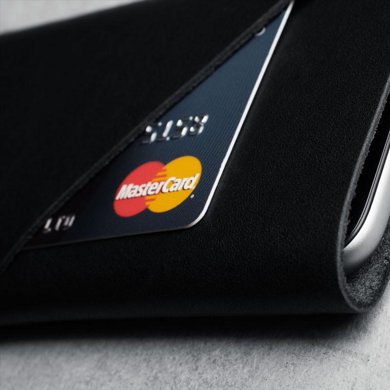 Mujjo Leather Wallet Sleeve iPhone 6 Black - 4