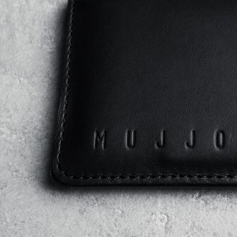 Mujjo Leather Wallet Sleeve iPhone 6 Black - 5