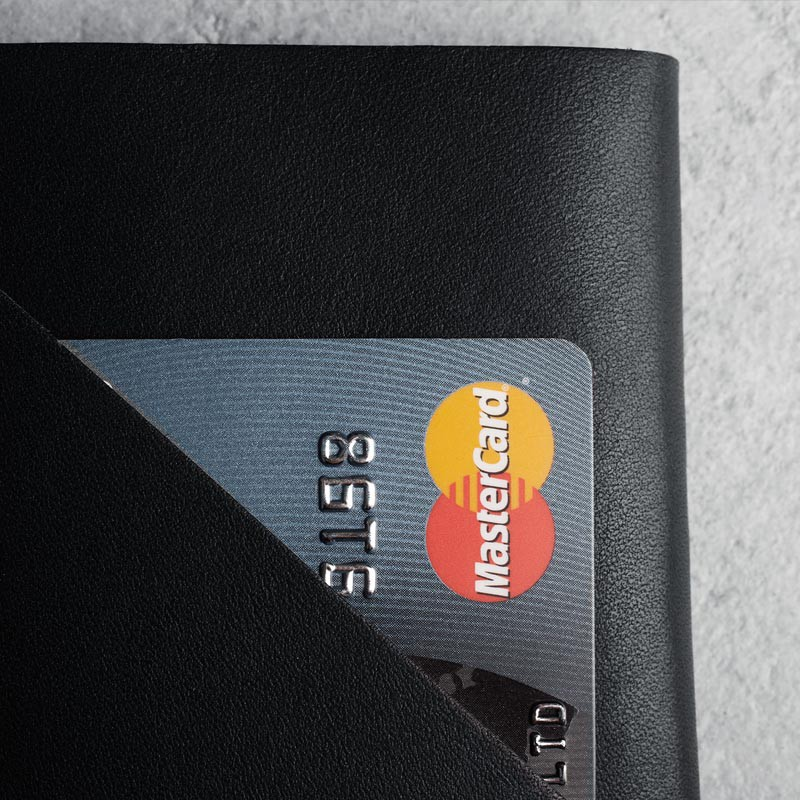 Mujjo Leather Wallet Sleeve iPhone 6 Black - 6
