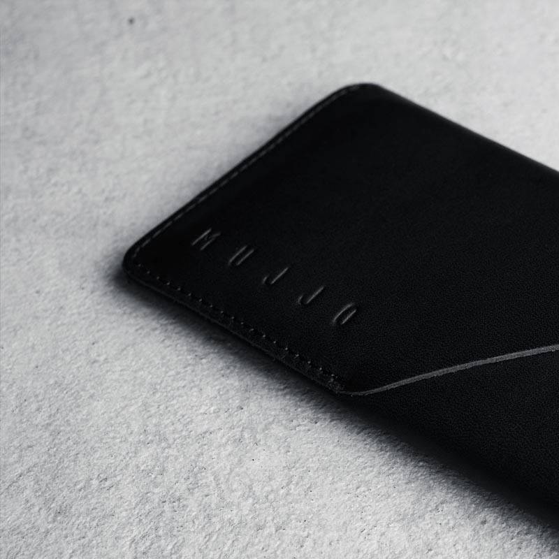Mujjo Leather Wallet Sleeve iPhone 6 Black - 7