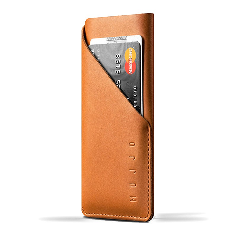 Mujjo Leather Wallet Sleeve iPhone 6 Tan Brown - 1