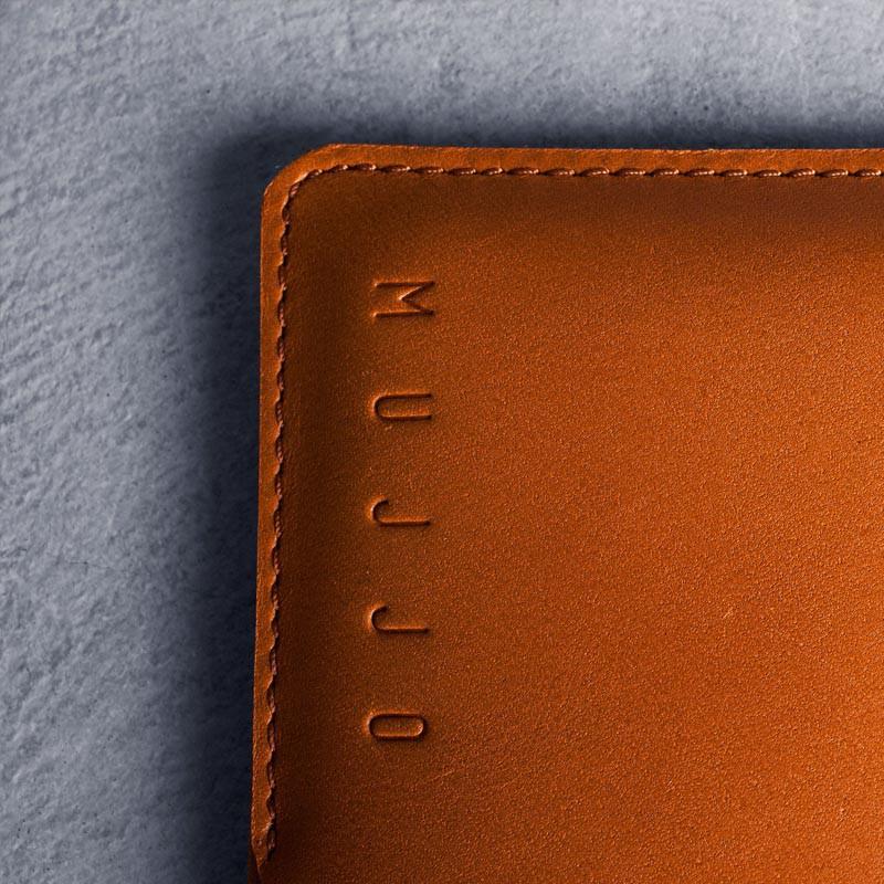 Mujjo Leather Wallet Sleeve iPhone 6 Tan Brown - 3