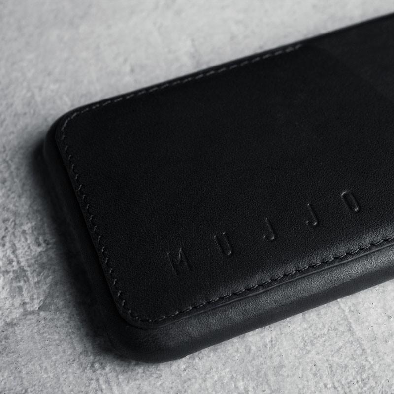 Mujjo Leather Wallet Case iPhone 6 Black - 5