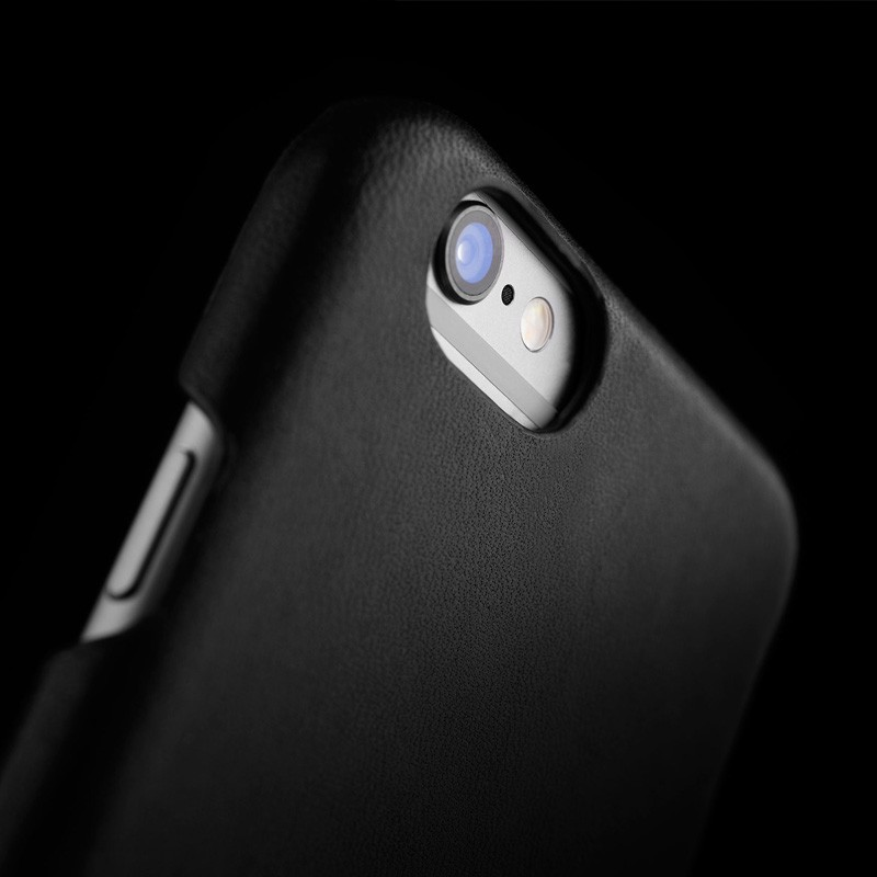 Mujjo Leather Wallet Case iPhone 6 Black - 6
