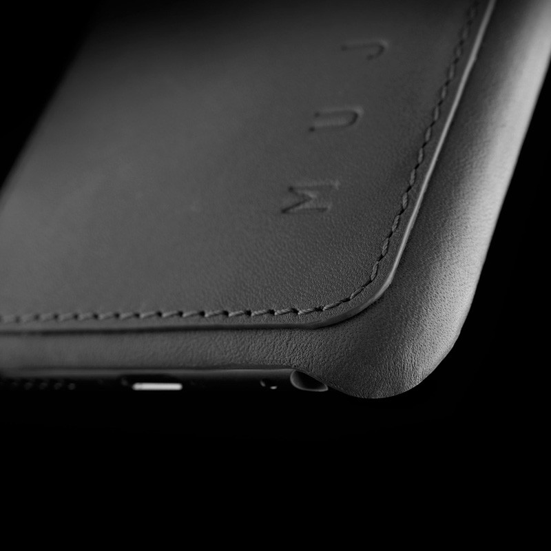 Mujjo Leather Wallet Case iPhone 6 Grey - 10