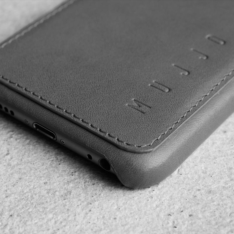 Mujjo Leather Wallet Case iPhone 6 Grey - 2