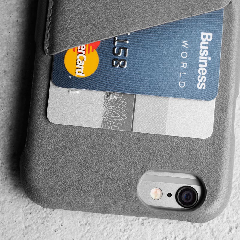 Mujjo Leather Wallet Case iPhone 6 Grey - 3