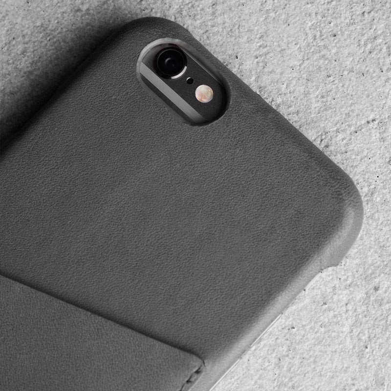 Mujjo Leather Wallet Case iPhone 6 Grey - 6