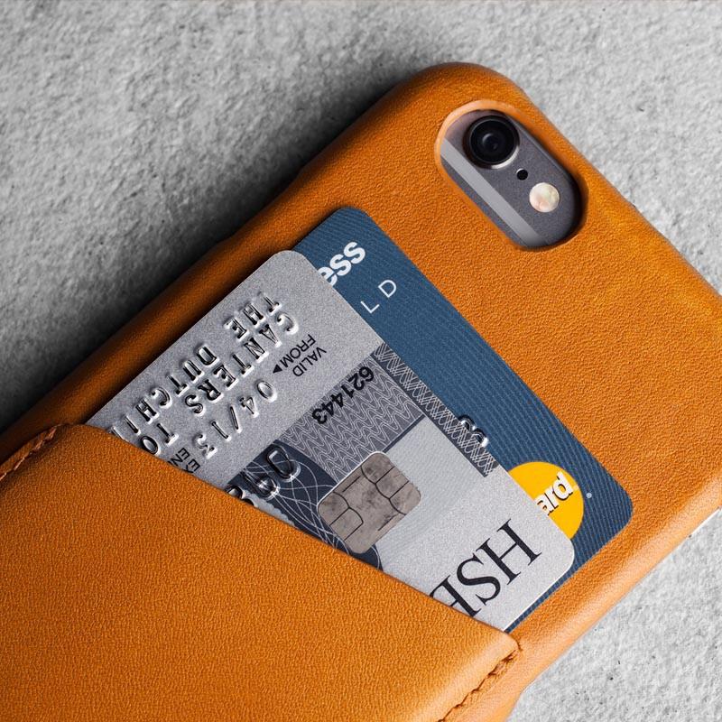 Mujjo Leather Wallet Case iPhone 6 Tan - 3