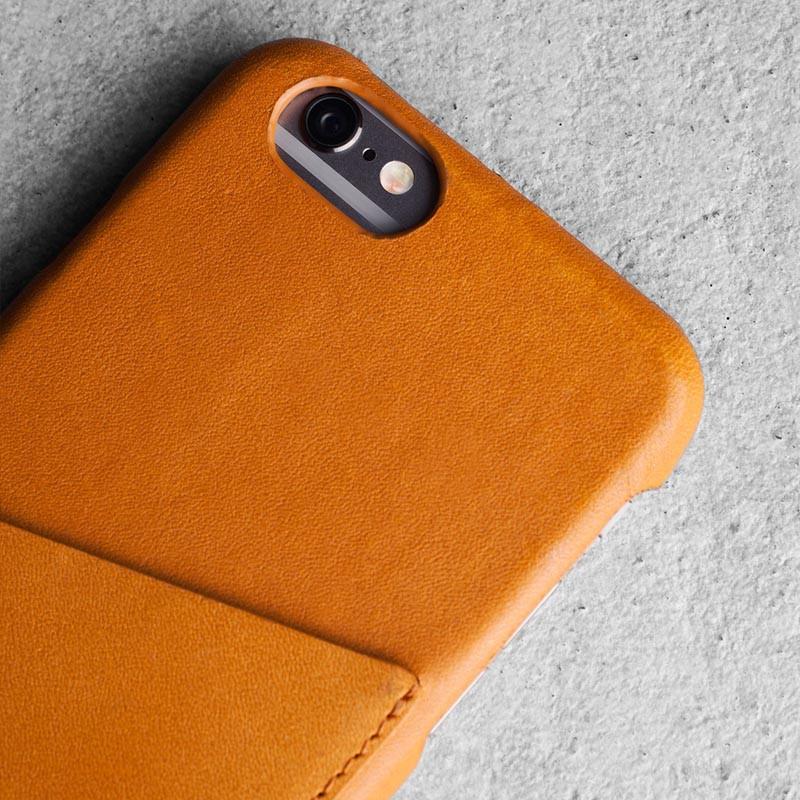 Mujjo Leather Wallet Case iPhone 6 Tan - 2