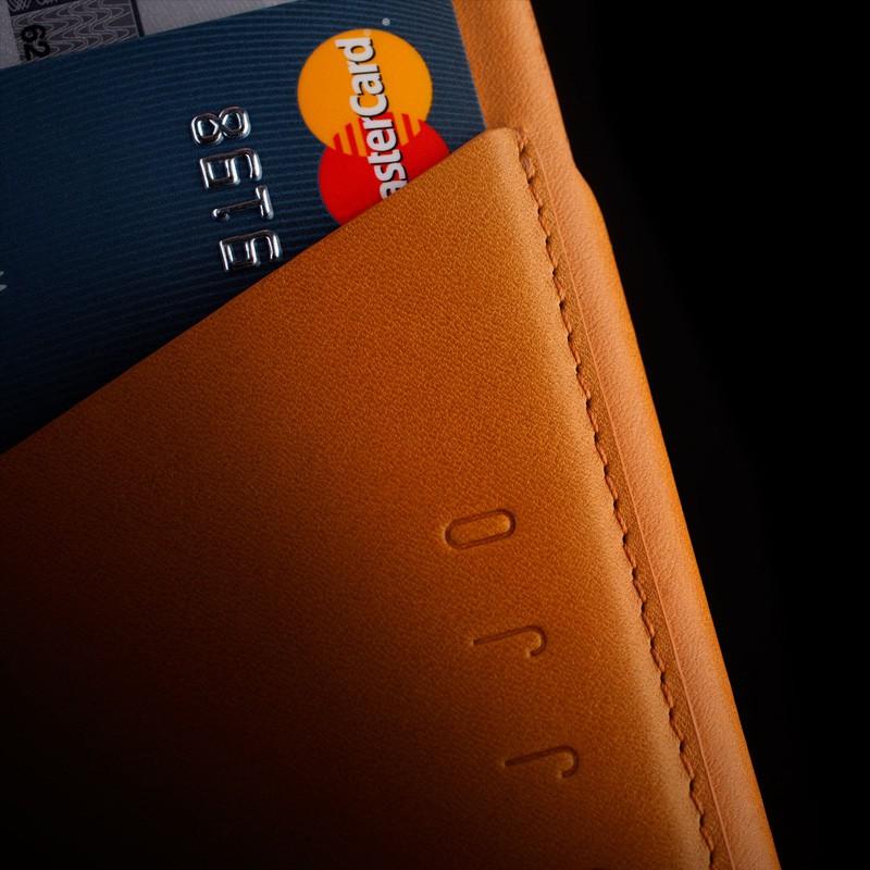 Mujjo Leather Wallet Case iPhone 6 Tan - 9