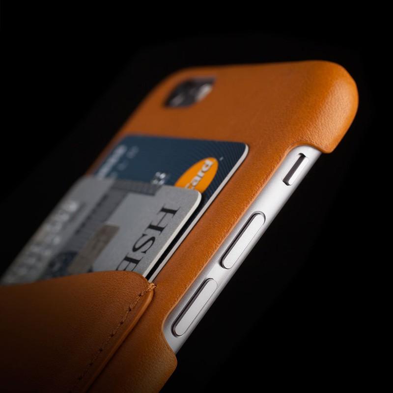 Mujjo Leather Wallet Case iPhone 6 Tan - 8