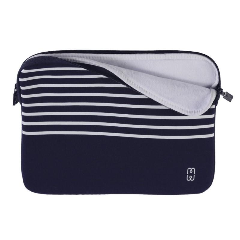 MW Sleeve voor Macbook Pro 13 inch / Macbook Air 2018 Blauw Marinière - 1