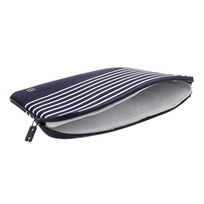 MW Sleeve voor Macbook Pro 13 inch / Macbook Air 2018 Blauw Marinière - 3