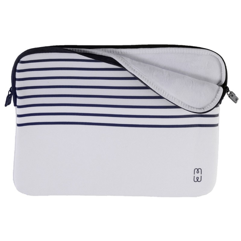 MW Sleeve voor Macbook Pro 13 inch / Macbook Air 2018 Wit Marinière - 1