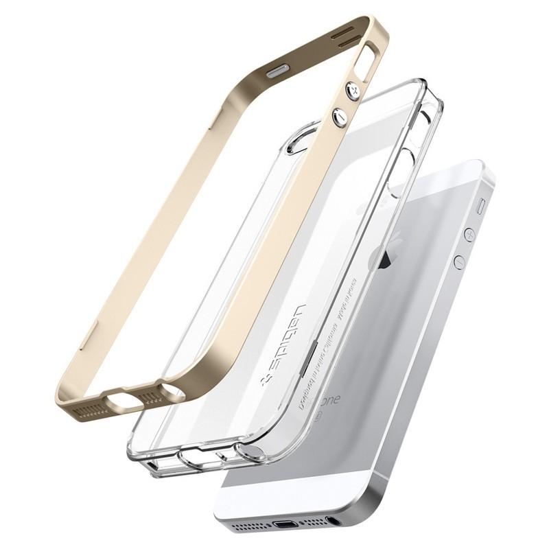 Spigen Neo Hybrid Crystal iPhone SE / 5S / 5 Champagne Gold - 3