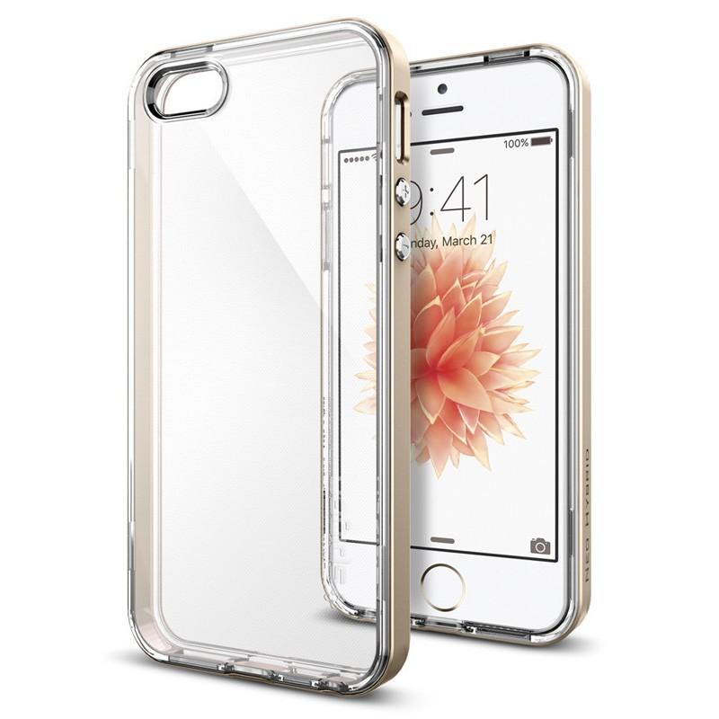 Spigen Neo Hybrid Crystal iPhone SE / 5S / 5 Champagne Gold - 4