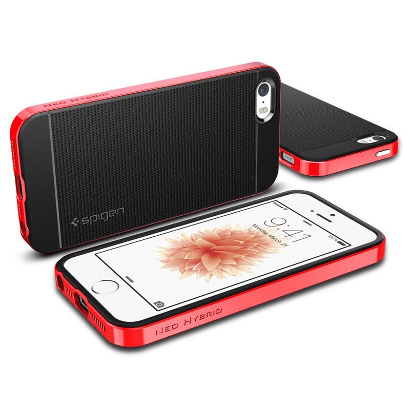 Spigen Neo Hybrid iPhone SE / 5S / 5 Dante Red - 3