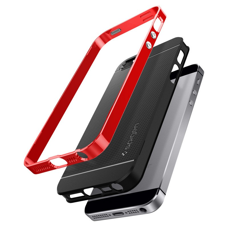 Spigen Neo Hybrid iPhone SE / 5S / 5 Dante Red - 5