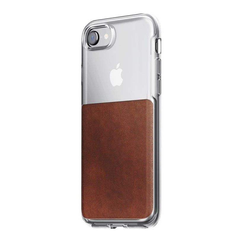 Nomad Leather Clear Case iPhone 8/7 Hoesje Bruin - 1