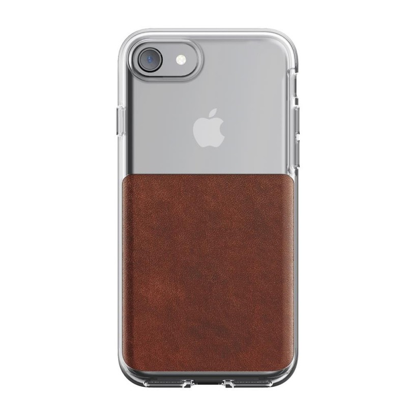 Nomad Leather Clear Case iPhone 8/7 Hoesje Bruin - 2