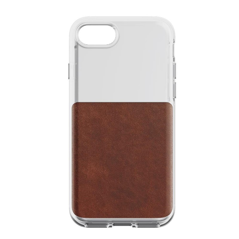 Nomad Leather Clear Case iPhone 8/7 Hoesje Bruin - 3