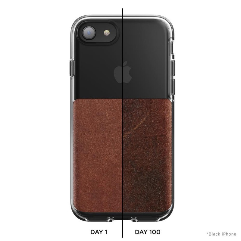 Nomad Leather Clear Case iPhone 8/7 Hoesje Bruin - 7
