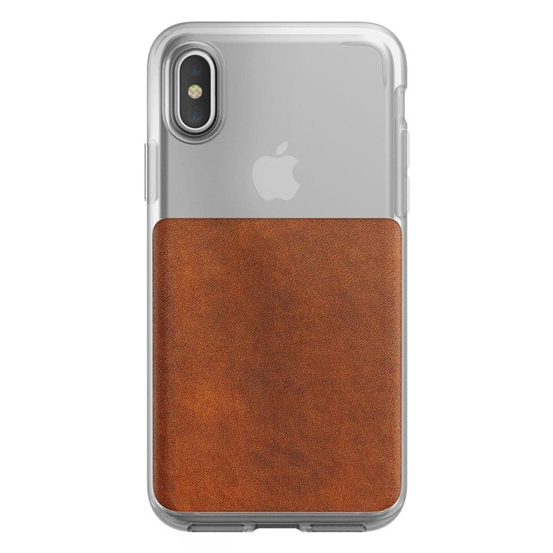 Nomad Clear Leather Case iPhone X Bruin - 2