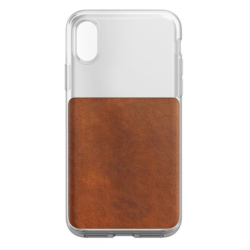Nomad Clear Leather Case iPhone X Bruin - 4