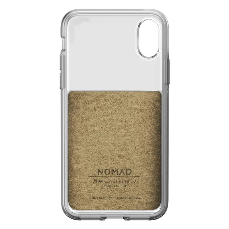 Nomad Clear Leather Case iPhone X Bruin - 6
