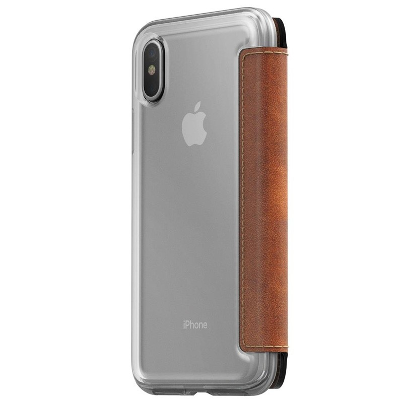 Nomad Clear Leather Folio iPhone X/Xs Bruin - 2