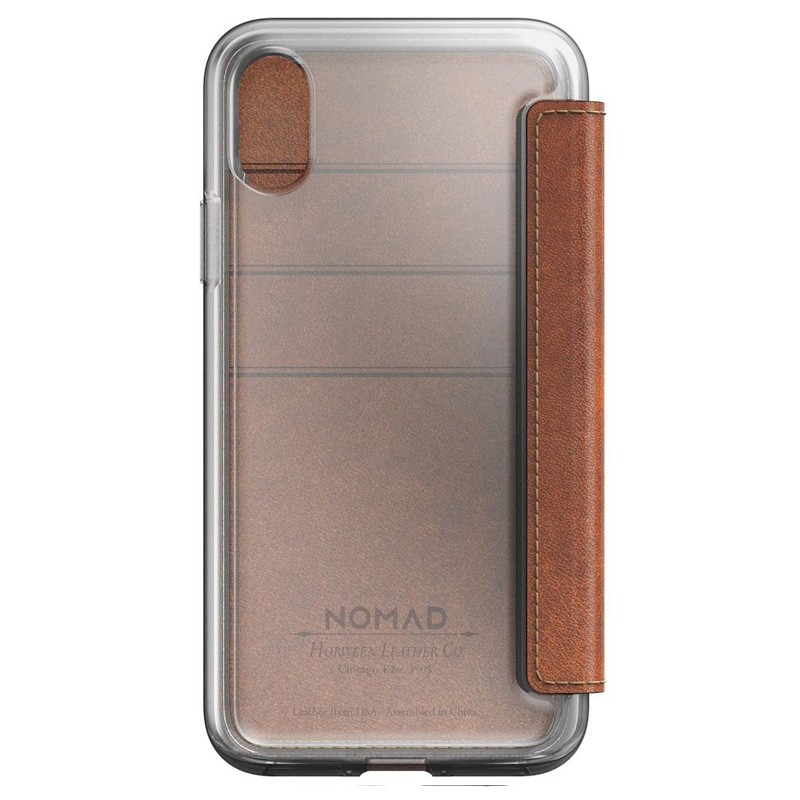Nomad Clear Leather Folio iPhone X/Xs Bruin - 4