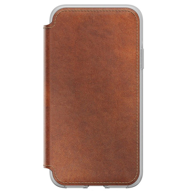 Nomad Clear Leather Folio iPhone X/Xs Bruin - 5