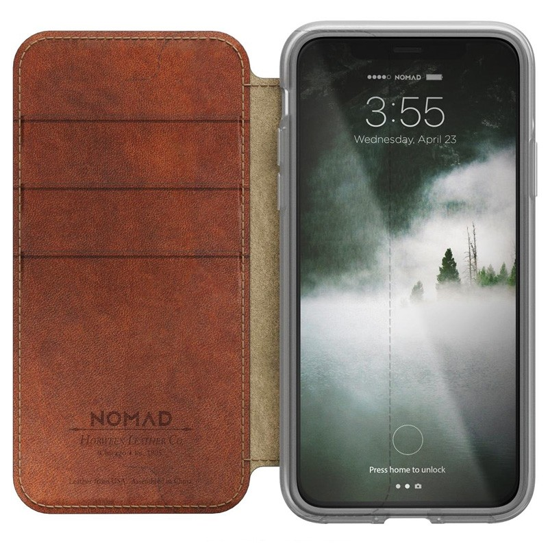 Nomad Clear Leather Folio iPhone X Bruin - 6