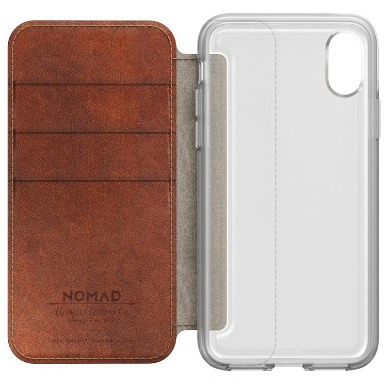 Nomad Clear Leather Folio iPhone X Bruin - 7