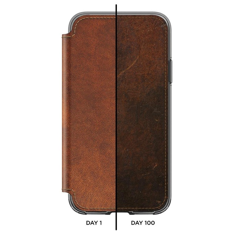 Nomad Clear Leather Folio iPhone X/Xs Bruin - 9