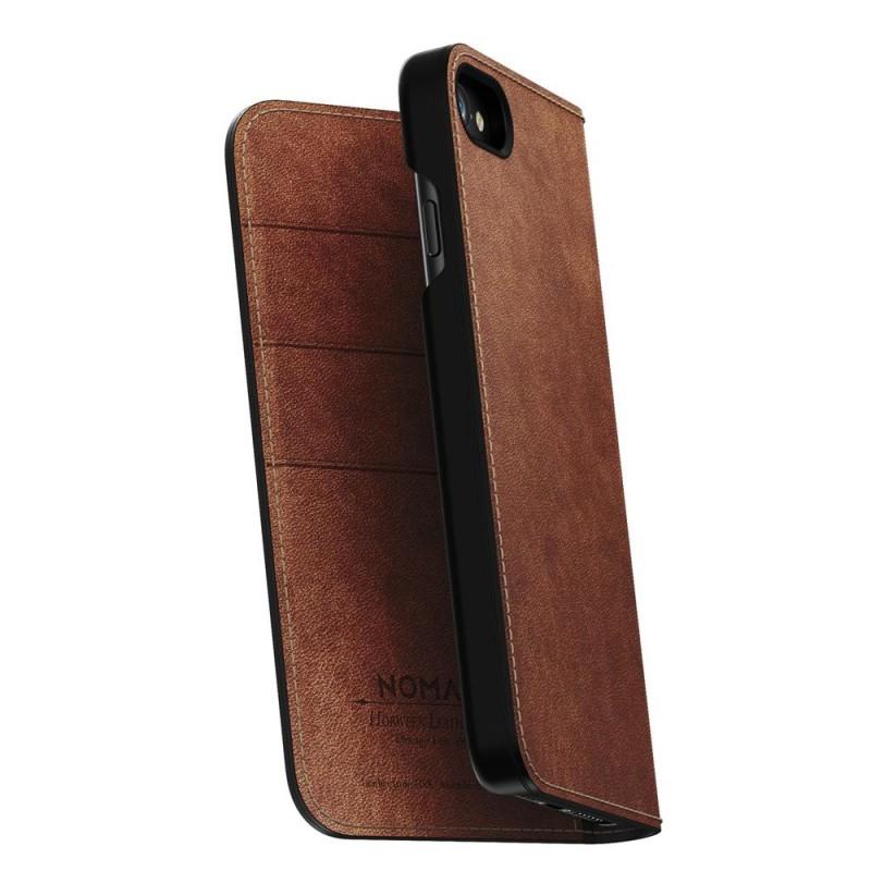 Nomad Leather Folio iPhone 8/7 Hoesje Bruin - 1