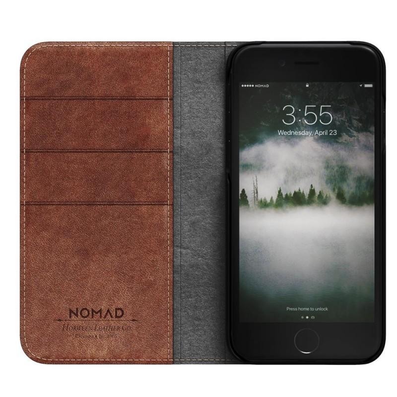 Nomad Leather Folio iPhone 8/7 Hoesje Bruin - 4