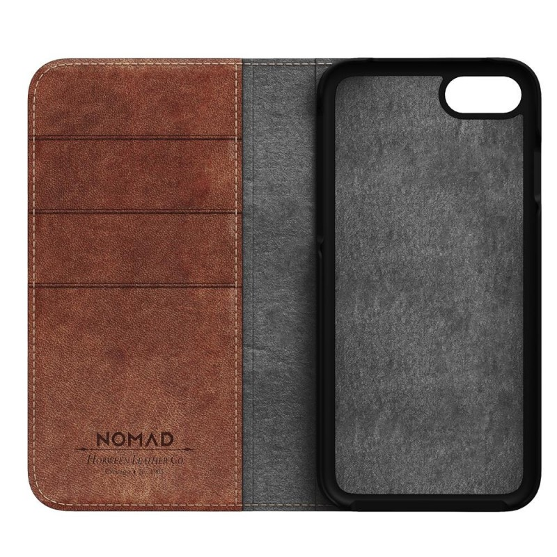 Nomad Leather Folio iPhone 8/7 Hoesje Bruin - 5